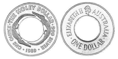 1 Dollar Australia (1939 - ) Silver Elizabeth II (1926-)