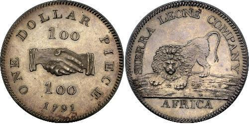 1 Dollar Sierra Leone Silver