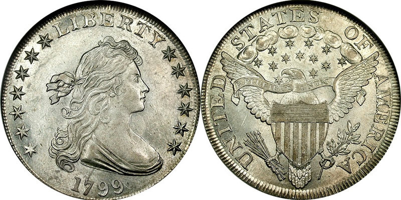 1 Dollar 1799 Usa 1776 Silver Anne Willing Bingham