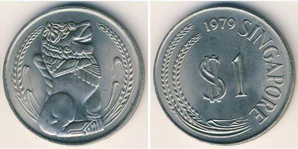 1 Dollaro Singapore Rame/Nichel