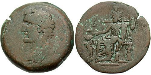 1 Drachm Roman Empire (27BC-395) Bronze Antoninus Pius  (86-161)
