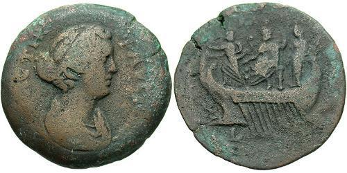 1 Drachm Roman Empire (27BC-395) Bronze Faustina II (130-175)
