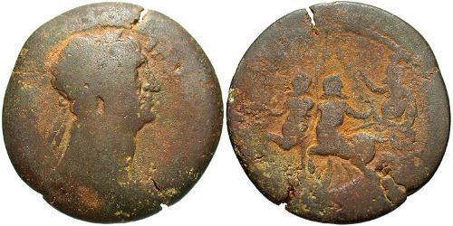 1 Drachm Roman Empire (27BC-395) Bronze Trajan (53-117)