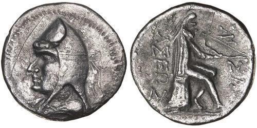 1 Drachm Parthian Empire (247 BC – 224 AD) Silver Mithridates I of Parthia (165-132 BC)