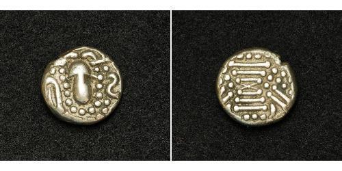 1 Drachm Western Chalukya Empire (973 - 1189) Silver