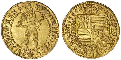 1 Ducat 奥地利历史 (1156 - 1806) 金 鲁道夫二世 (神圣罗马帝国) (1552 - 1612)