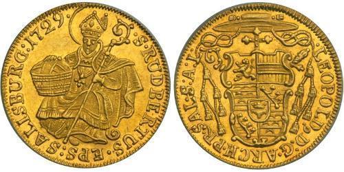 1 Ducat Austria  Gold Count Leopold Anton von Firmian (1679 - 1744)