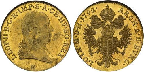 1 Ducat Habsburg Empire (1526-1804) Gold Leopold II, Holy Roman Emperor (1747 - 1792)