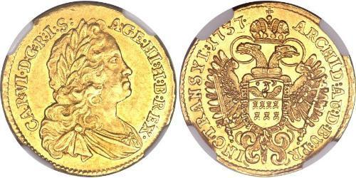 1 Ducat Holy Roman Empire (962-1806) Gold Charles VI, Holy Roman Emperor (1685-1740)