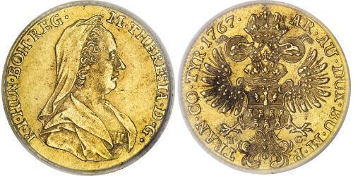 1 Ducat Holy Roman Empire (962-1806) Gold Maria Theresa of Austria (1717 - 1780)