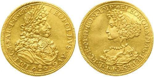 1 Ducat Imperial City of Augsburg (1276 - 1803) Gold Leopold I, Holy Roman Emperor (1640-1705)