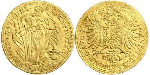 1 Ducat Imperial City of Augsburg (1276 - 1803) Gold Ferdinand II, Holy Roman Emperor  (1578 -1637)