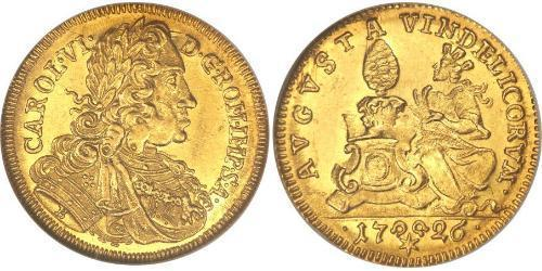 1 Ducat Imperial City of Augsburg (1276 - 1803) Gold Charles VI, Holy Roman Emperor (1685-1740)