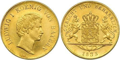 1 Ducat Kingdom of Bavaria (1806 - 1918) Gold Ludwig I of Bavaria (1786 – 1868)