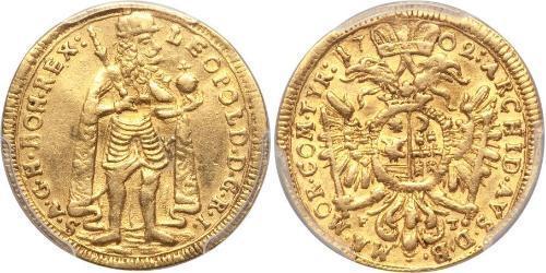 1 Ducat Principality of Transylvania (1571-1711) Gold Leopold I, Holy Roman Emperor (1640-1705)
