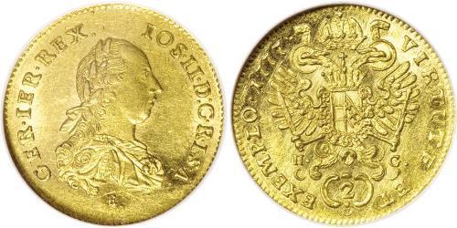 1 Ducat Principality of Transylvania (1571-1711) / Holy Roman Empire (962-1806) Gold Joseph II, Holy Roman Emperor  (1741 - 1790)