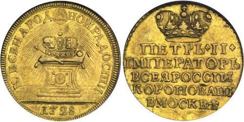 1 Ducat Russian Empire (1720-1917) Gold Peter II (1715-1730)