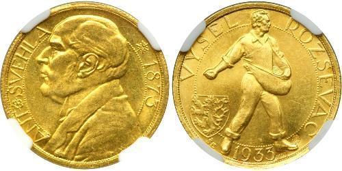 1 Ducat Tschechoslowakei  (1918-1992) Gold Antonin Svehla  (1873- 1933)