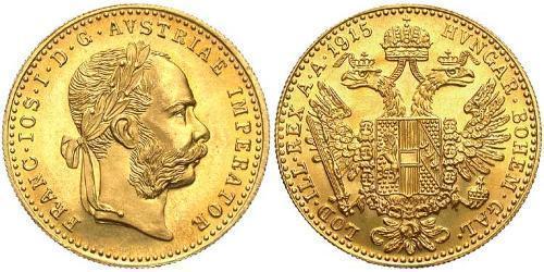 1 Ducat Imperio austrohúngaro (1867-1918) Oro Franz Joseph I (1830 - 1916)