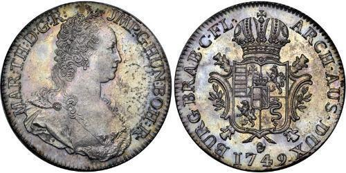 1 Ducaton Austrian Netherlands (1713-1795) Argent Maria Theresa of Austria (1717 - 1780)