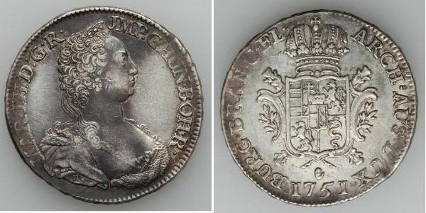 1 Ducaton Austrian Netherlands (1713-1795) Silver Maria Theresa of Austria (1717 - 1780)