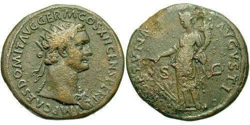 1 Dupondius Roman Empire (27BC-395) Bronze Domitian  (51-96)