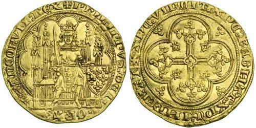 1 Ecu Kingdom of France (843-1791) Gold Philip VI of France (1293 - 1350)
