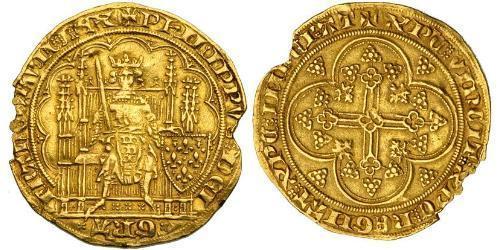 1 Ecu Kingdom of France (843-1791) Gold Philip VI of France (1293 - 1350)