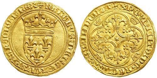 1 Ecu Francia medioevale (843-1791) Oro Carlo VI di Francia (1368-1422)