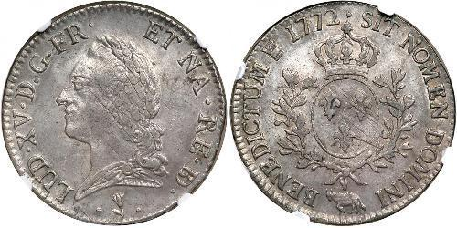 1 Ecu Kingdom of France (843-1791) Silber Ludwig XV (1710-1774)