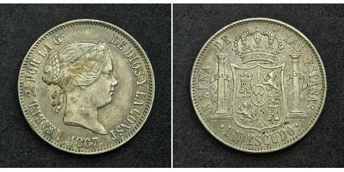 1 Escudo Spagna Argento