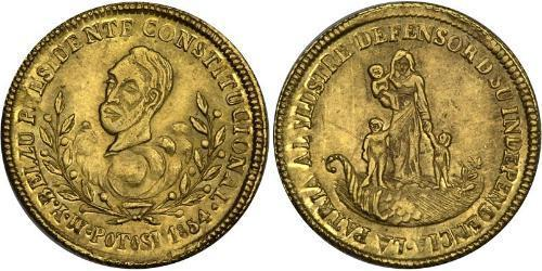 1 Escudo Plurinational State of Bolivia (1825 - ) Gold