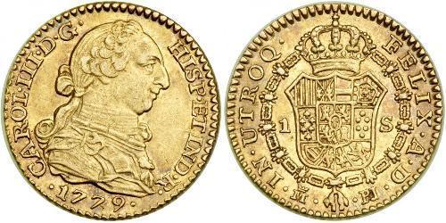 1 Escudo Spagna Oro Carlo III di Spagna (1716 -1788)