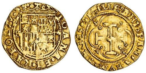 1 Escudo Spagna degli Asburgo (1506 - 1700) Oro