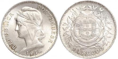 1 Escudo Erste Portugiesische Republik (1910 - 1926) Silber