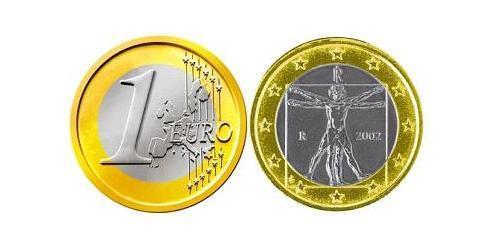 1 Euro Italia Bimetal