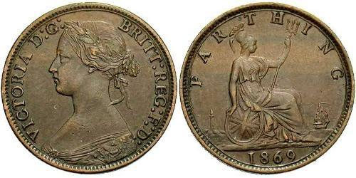 1 Farthing United Kingdom of Great Britain and Ireland (1801-1922) Bronze Victoria (1819 - 1901)