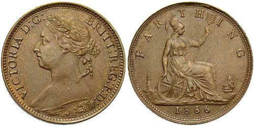 1 Farthing Vereinigtes Königreich von Großbritannien und Irland (1801-1922) Bronze Victoria (1819 - 1901)