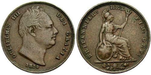1 Farthing United Kingdom Copper William IV (1765-1837)