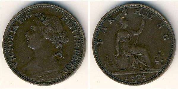 1 Farthing United Kingdom (1707 - ) Copper Victoria (1819 - 1901)