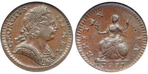 1 Farthing Royaume de Grande-Bretagne (1707-1801) Cuivre George III (1738-1820)