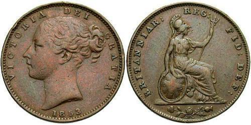 1 Farthing Vereinigtes Königreich von Großbritannien und Irland (1801-1922) Kupfer Victoria (1819 - 1901)