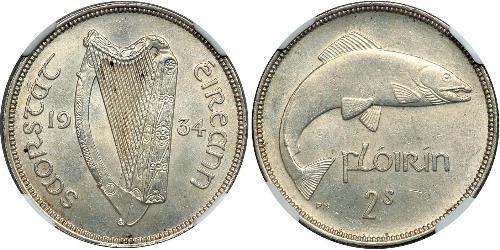 1 Florin Irlande (1922 - ) Argent