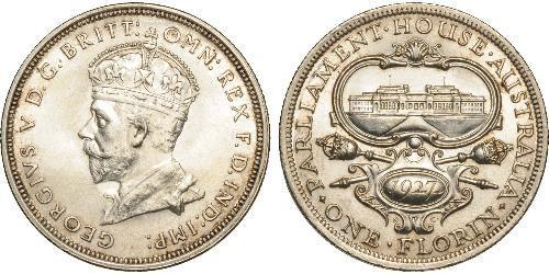 1 Florin Australia (1788 - 1939) Plata Jorge V (1865-1936)