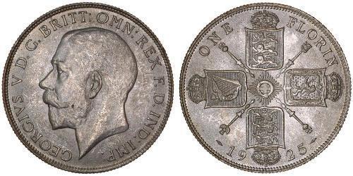1 Florin Reino Unido de Gran Bretaña e Irlanda (1801-1922) Plata Jorge V (1865-1936)