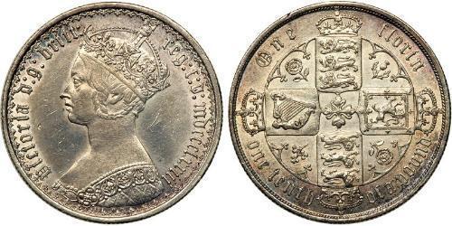 1 Florin Vereinigtes Königreich von Großbritannien und Irland (1801-1922) Silber Victoria (1819 - 1901)