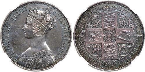 1 Florin United Kingdom of Great Britain and Ireland (1801-1922) Silver Victoria (1819 - 1901)