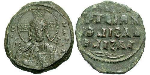 1 Follis Byzantine Empire (330-1453) Bronze Constantine VIII (960-1028)