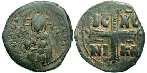 1 Follis Byzantine Empire (330-1453) Bronze Michael IV (1010-1041)