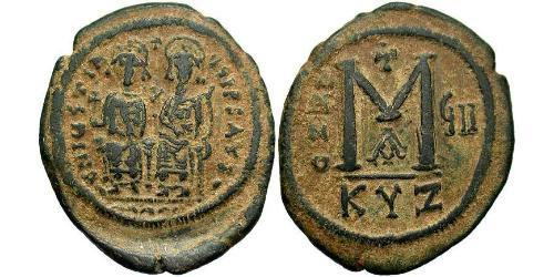 1 Follis Byzantine Empire (330-1453) Bronze Justin II (520-578)